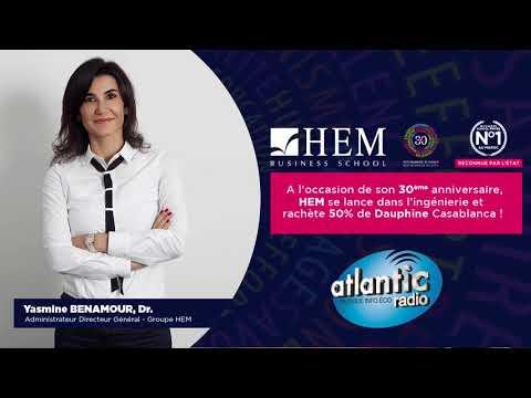 Yasmine BENAMOUR, ADG du Groupe HEM - Invitée de Atlantic Radio, Mai 2018