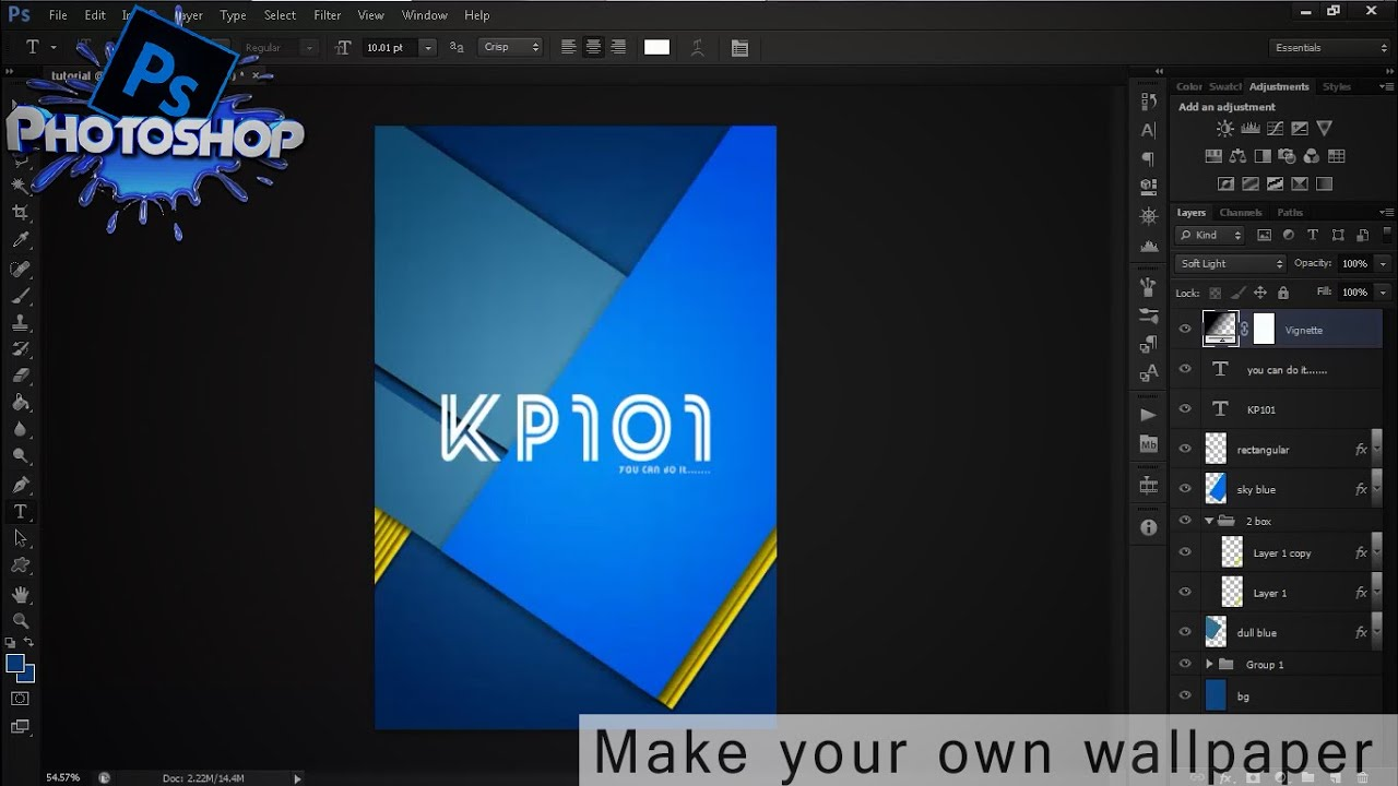 How to make your own wallpapers in photoshop cs6 - YouTube