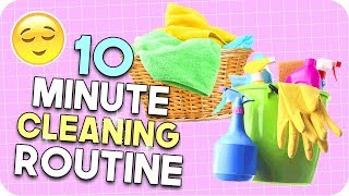 10 Minute Cleaning Routine! How to tidy any space FAST!