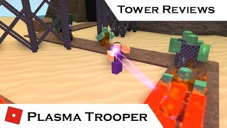 Plasma Trooper (All Upgrades) | Tower Reviews | Tower Battles [ROBLOX]