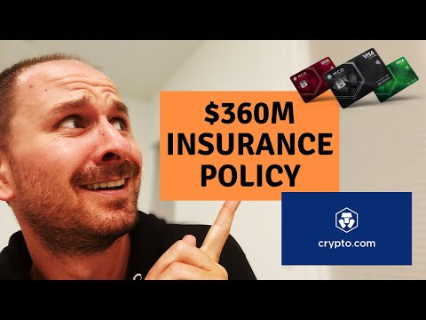 Crypto.com BIGGEST $360 MILLION Crypto Insurance Policy EVER - MCO CRO Crypto Debit Card Update