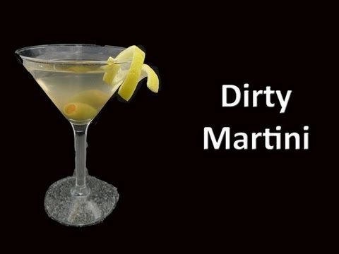 Dirty Martini Drink Recipe - YouTube