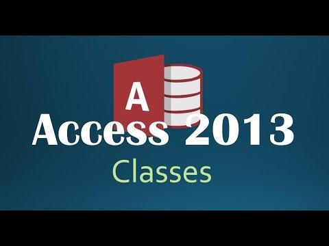 47. VBA - Classes (Programming In Access 2013)
