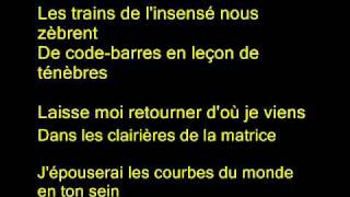 "french rock music 3 - Eiffel - "" Mille voix rauques "" w lyrics"