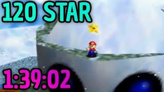 [NEW PB] SM64 120 Star Speedrun in 1:39:02