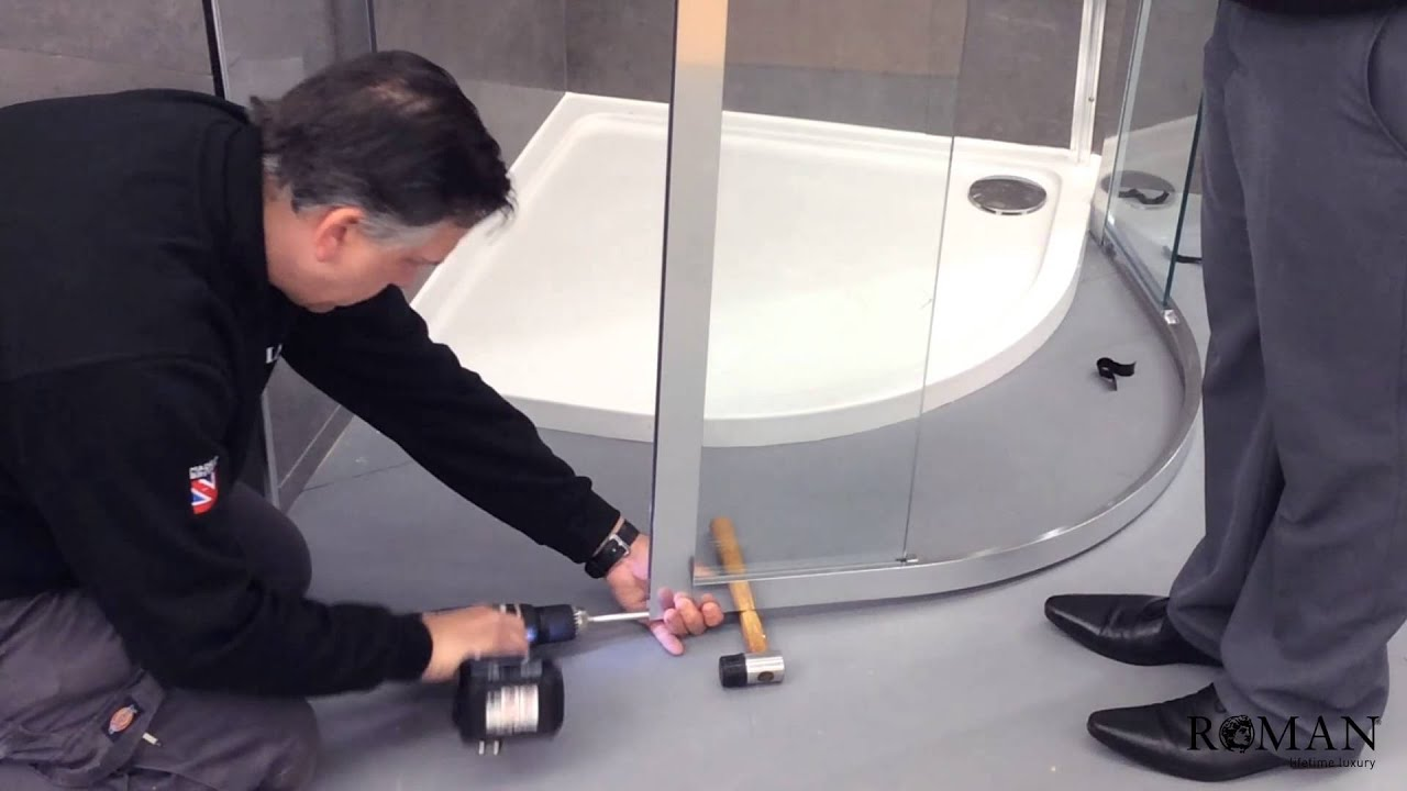 Genial Shower Enclosure Installation Video   Roman   YouTube