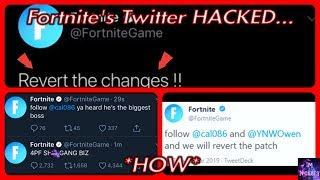 HOW Fortnite's OFFICIAL Twitter Got HACKED... (Fortnite Hacked Messages)
