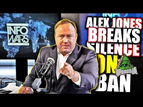 Alex Jones BREAKS SILENCE on ban