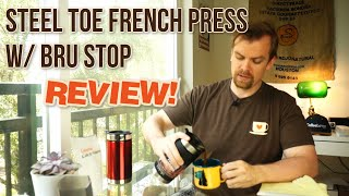 Steel Toe French Press w/ Bru Stop by Planetary Design