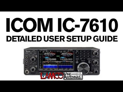 LAMCO Tutorial | IC-7610 Detailed Operator Setup Guide