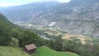 20-7-2012 Kabelbaan van Raron naar Eischoll Wallis Zwitserland Sony Cyber-shot DSC-HX30V