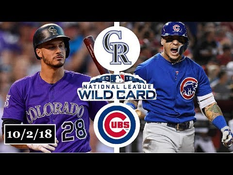 Colorado Rockies vs Chicago Cubs Highlights    NL Wild Card Game    October 2, 2018