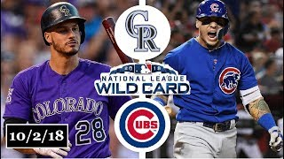 Colorado Rockies vs Chicago Cubs Highlights || NL Wild Card Game || October 2, 2018