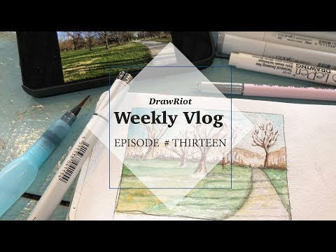 VLOG 13 | Making Art, Doughnuts, a Movie & My First Oil Painting