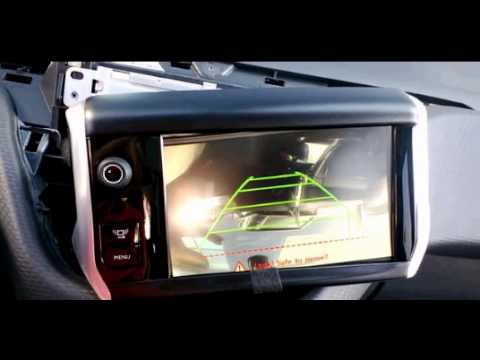 Peugeot 208 After Market Rear View Camera Youtube