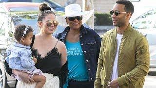 John Legend And Chrissy Teigen Out With Darling Daughter Luna