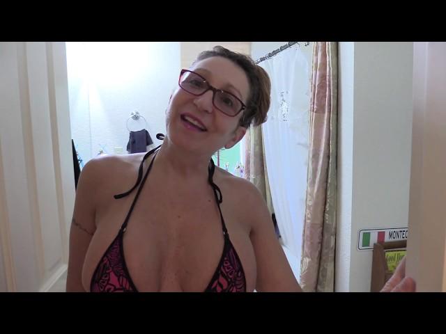 Bikini MILF Mom 55 - Bathroom Cleaning