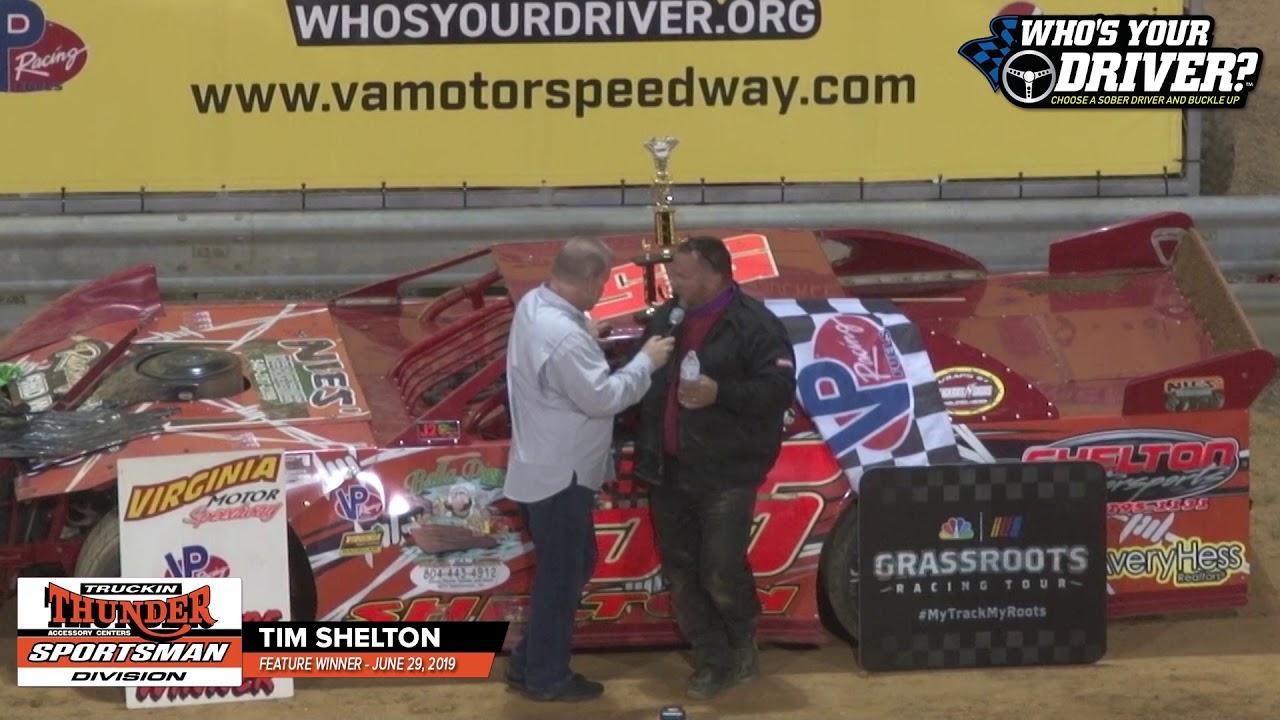 WHOSYOURDRIVER.ORG VICTORY LANE - Tim Shelton Truckn Thunder Sportsman 062919