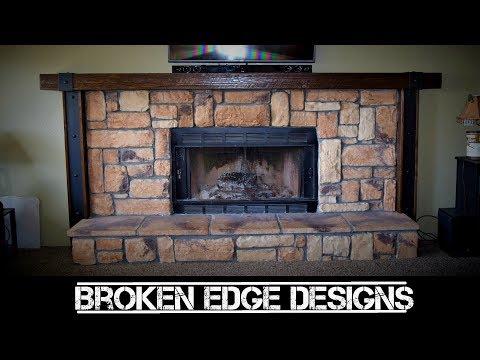 RECLAIMED wood fireplace mantel