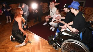 Superstars grant wishes during WWE's European Tour