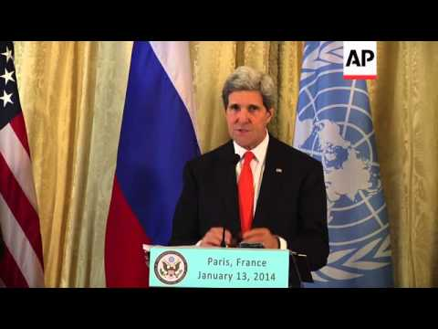 Kerry, Lavrov and Brahimi comment on Syrian civil war