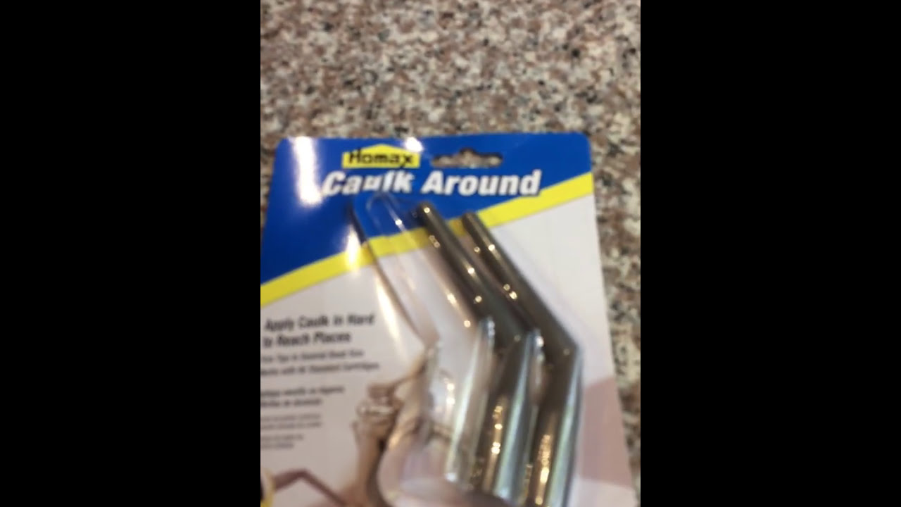 How To Caulk Behind A Sink Faucet - YouTube