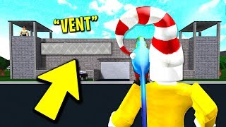Using A SECRET VENT To Escape His PRISON.. (Roblox)