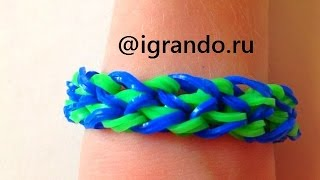 Как плести Браслет Тротуар из резинок Rainbow Loom видео урок | How To Make Stepping Stone Bracelet