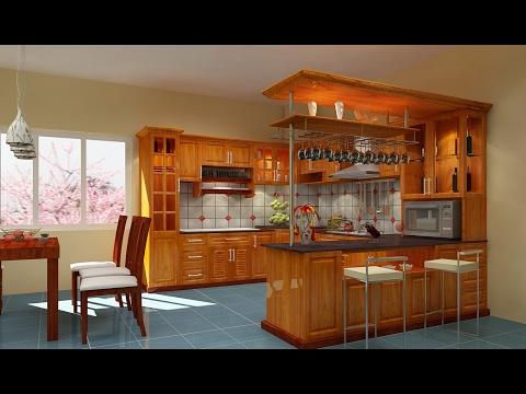Những mẫu tủ bếp gỗ đẹp với thiết kế vô cùng sắc sảo được nhiều người yêu thích