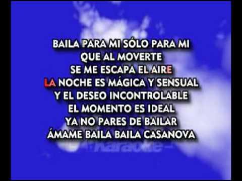 karaoke Baila Casanova------Pauliana Rubio