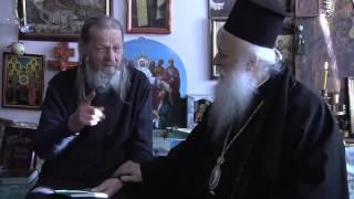 Афонские монахи в гостях у старца Ионы