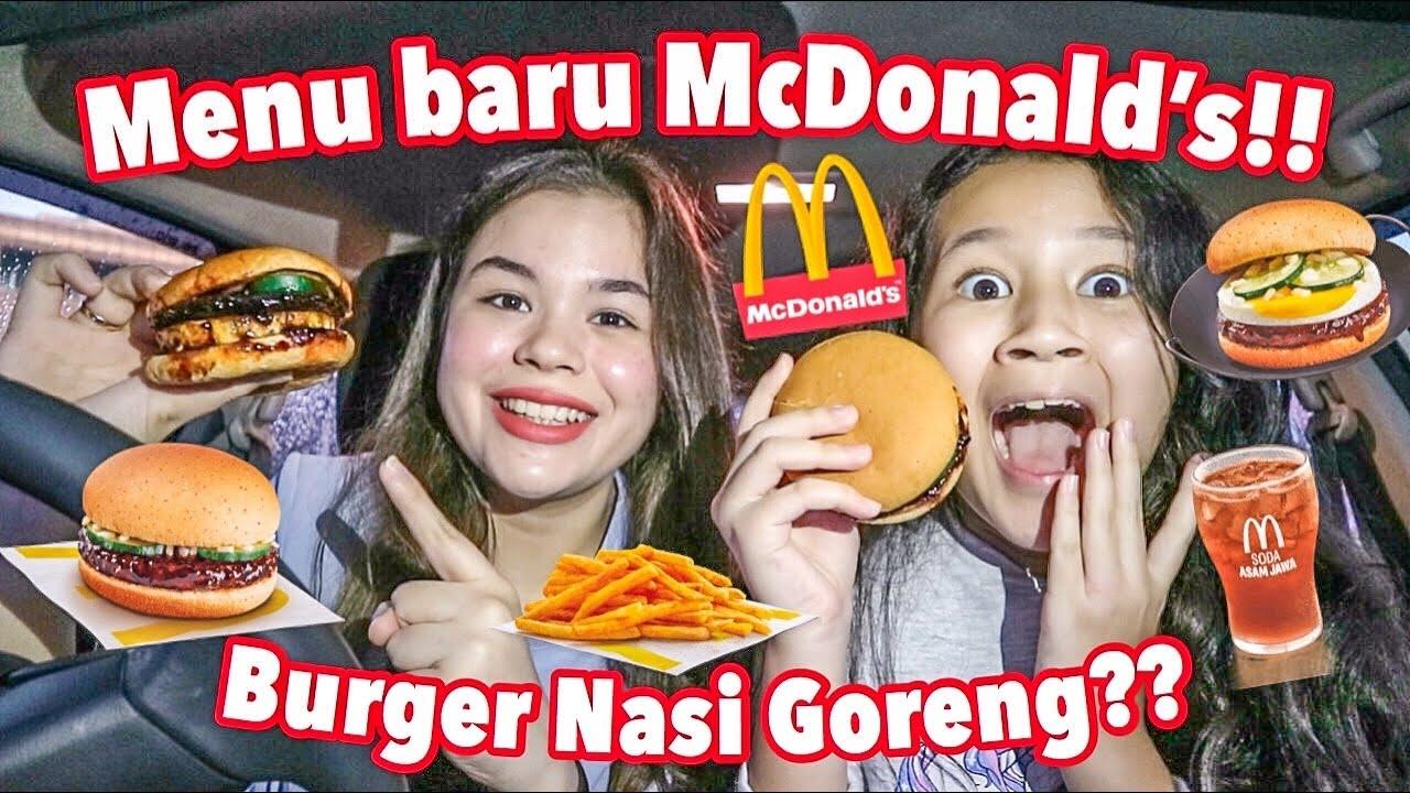 Burger Nasi Goreng?? Soda Asam Jawa?? Menu baru McDonald's unik banget!! | Sarina Nielsen