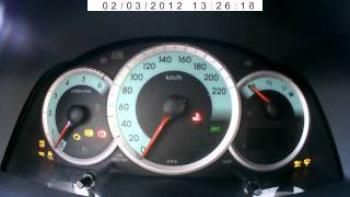 Toyota Corolla Verso 2005 D4D 2.0 Diesel Cold Start -17C