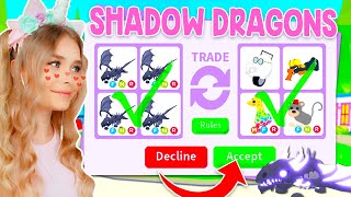 TRADING *SHADOW DRAGONS* ONLY In Adopt Me! (Roblox)