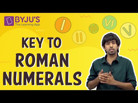 Key to Roman Numerals