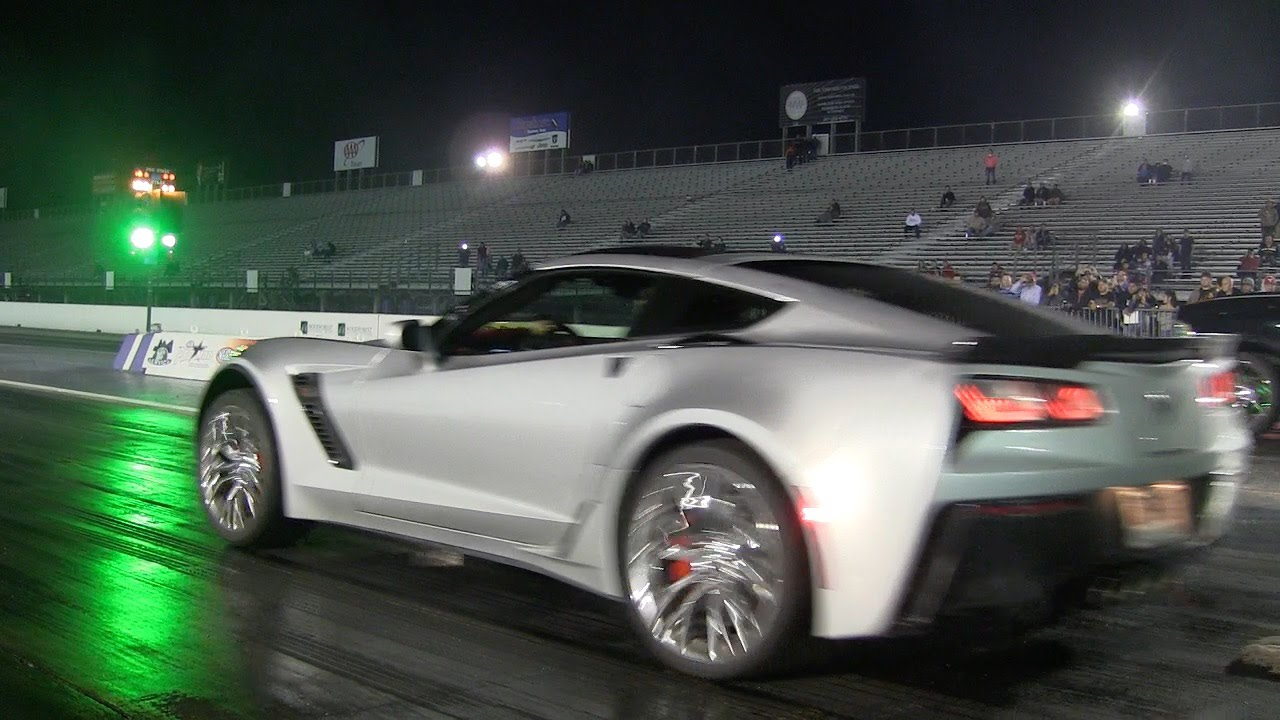2015 C7 Corvette Stingray Z06 First Quarter Mile Run Youtube