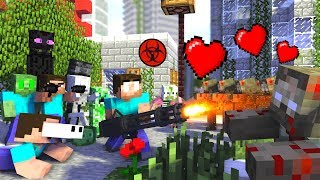 Monster School : ZOMBIE APOCALYPSE Funny Challenge - Minecraft Animation