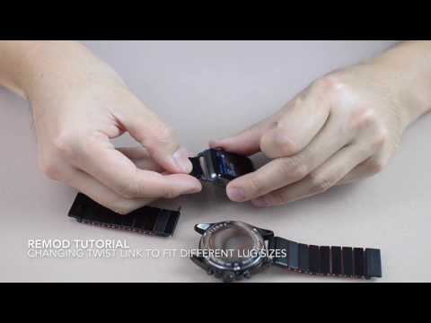 Remod Watchband Tutorial   Changing Twist Link to fit different Lug Size