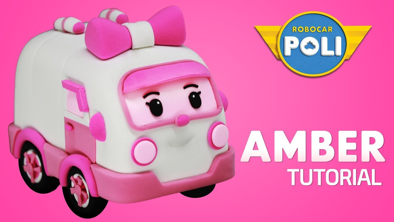 Transformed into clay amber became so soft friends of robocar poli gony s claytown youtube - Robocar poli ambre ...