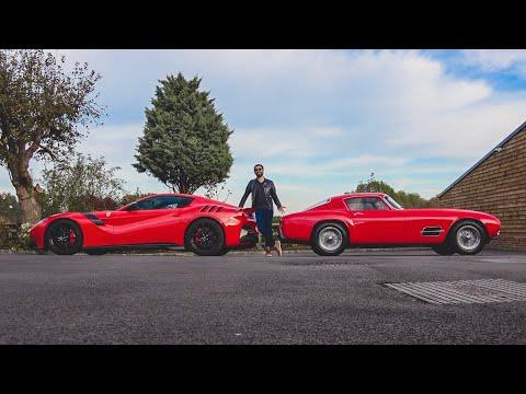 Ferrari F12tdf meets original Tour de France in Hertfordshire