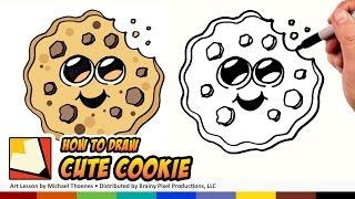 Cómo Dibujar Lindo de la Historieta de la Galleta Emoji - Fácil Lindo Cookie a Dibujar! | BP