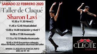 Taller de claqué con Sharon Lavi en Claqué Valencia 22 febrero 2020