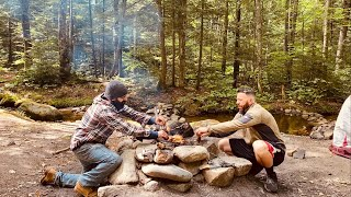 Camping and cooking iฑ the White Mountains of New Hampshire