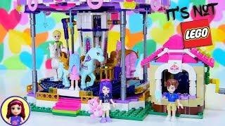 Building a 'Not Lego' Set 😱 Carousel Brick Set by Enlighten Bricks - Build & Review