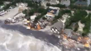 Aerial View of Aftermath of Hurricane Sandy Along New Jersey Coastline - Jersey Shore Storm Damage