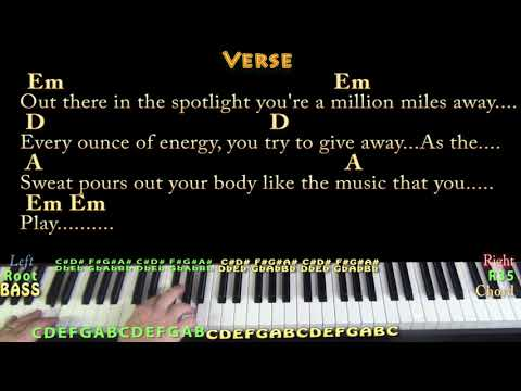 Turn the Page (Bob Seger) Piano Cover Lesson in Em with Chords/Lyrics