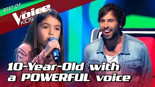 10-Year-Old POWERHOUSE surprises EVERYONE in The Voice Kids