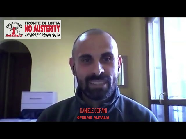 Assemblea nazionale del FLNA: relazione di Daniele Cofani, operaio Alitalia