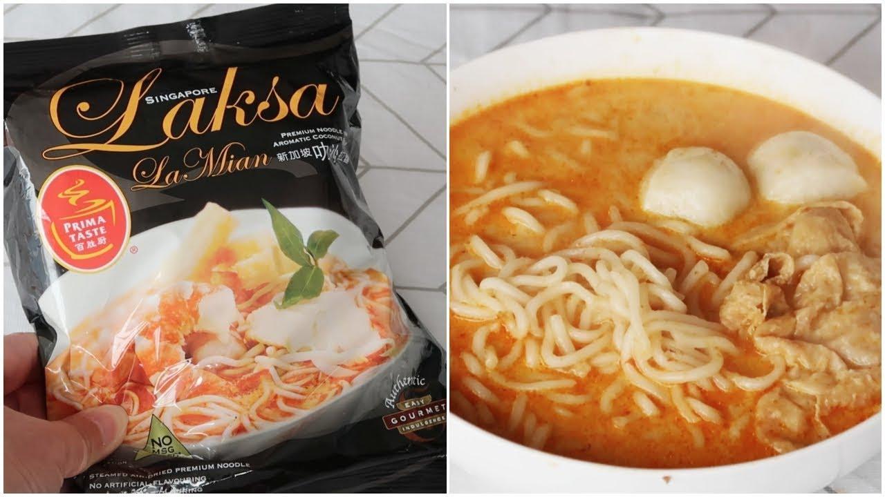 傳說中最好吃的新加坡叻沙泡麵 | 開箱試吃 - YouTube