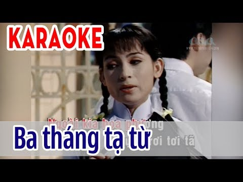 Ba Tháng Tạ Từ - KARAOKE Tone Nữ | Phi Nhung | Asia Karaoke Beat Chuẩn
